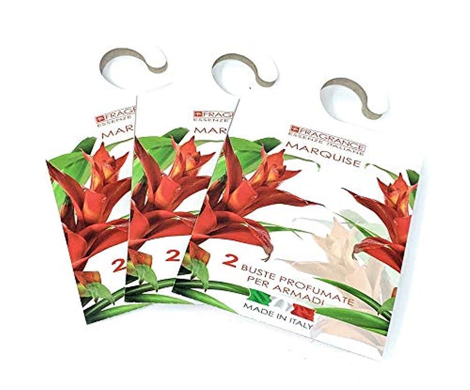 噛む塩スクリューMERCURY ITALY 吊り下げるサシェ(香り袋) FIOREALE イタリア製 マルキーズの香り/MARQUISE 2枚入り×3パック [並行輸入品]