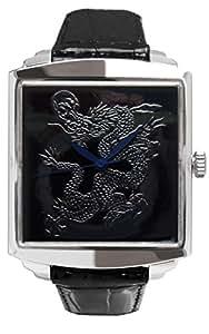 高級蒔絵時計 「浄雅」URUSHI MAKIE 漆塗り ハンドメイド文字盤 「黒龍」 自動巻き メンズ腕時計 G01008