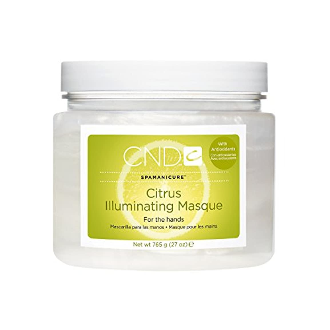 役割ピーク浜辺CND SpaManicure - Citrus Illuminating Masque - 27oz