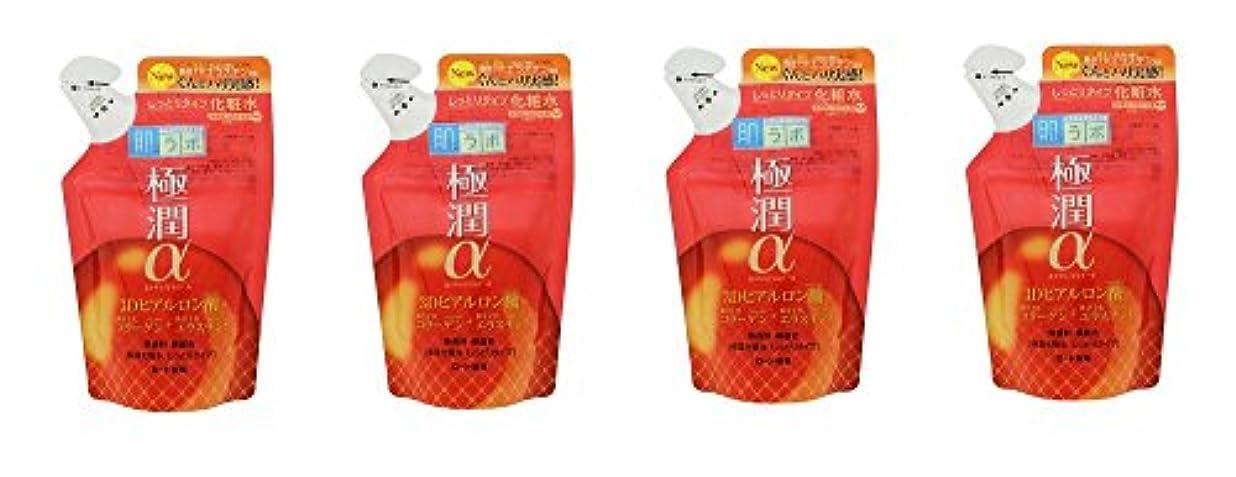 【まとめ買い】肌ラボ 極潤α ハリ化粧水しっとりタイプ つめかえ用170ml×4個