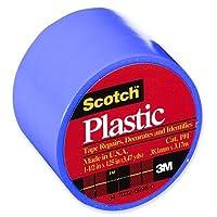 """Coloredプラスチックテープ、1–1/ 2"""" x125、"""" 6RL / BX、ブルーのセット[ 3]"""