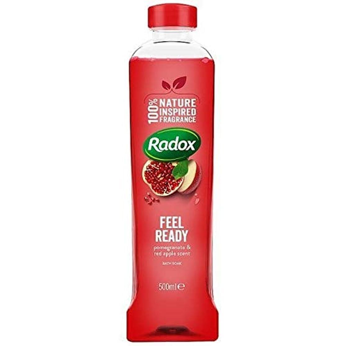 生き返らせるしなやかな採用する[Radox] Radoxは500ミリリットルを浸し準備風呂を感じます - Radox Feel Ready Bath Soak 500ml [並行輸入品]