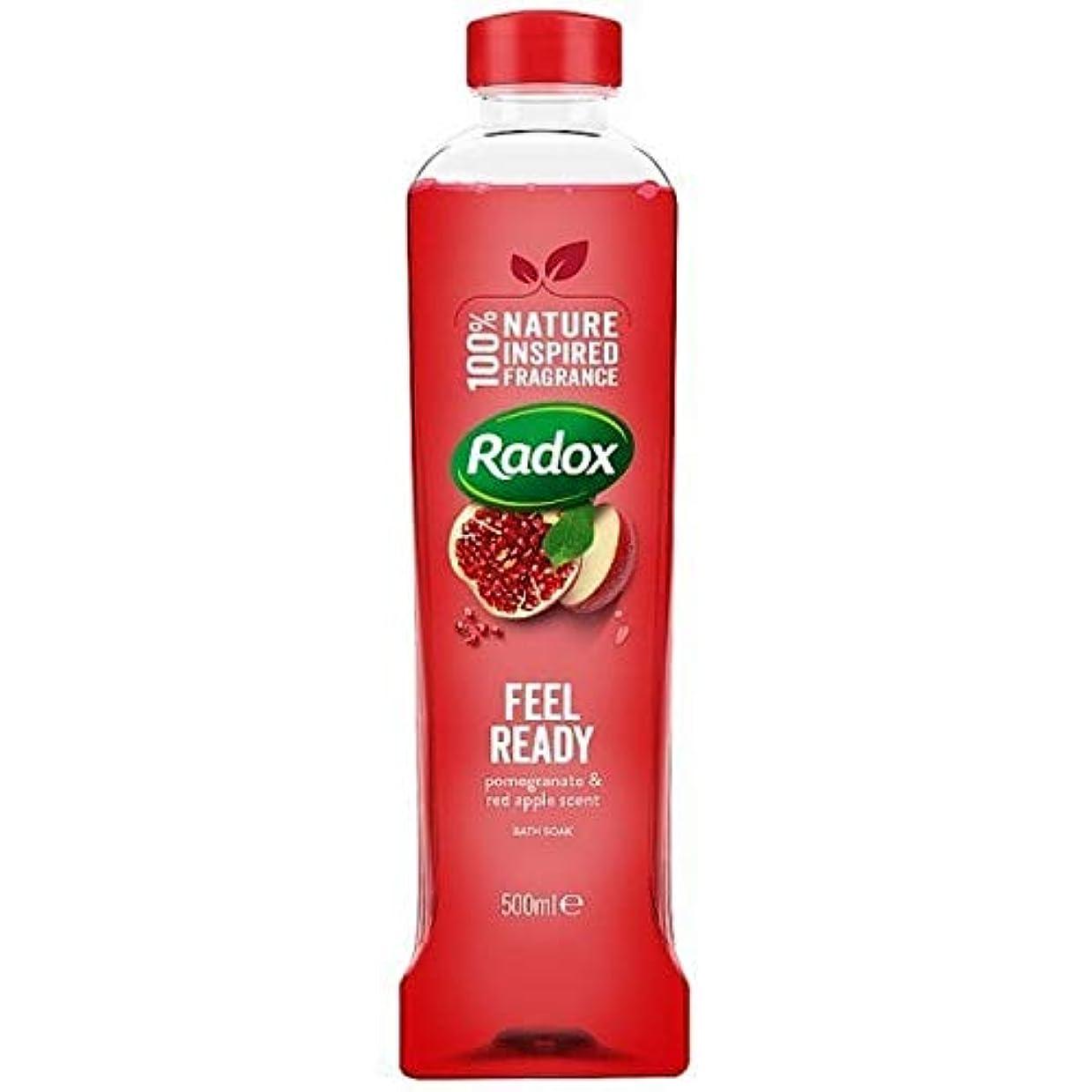 肌磁気説教する[Radox] Radoxは500ミリリットルを浸し準備風呂を感じます - Radox Feel Ready Bath Soak 500ml [並行輸入品]