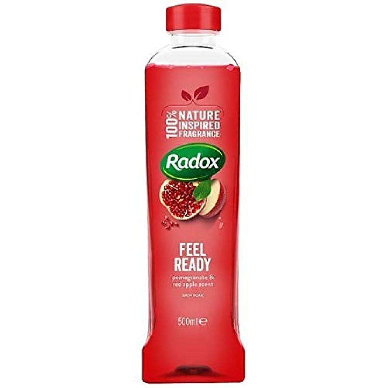 オプションアミューズメントブリーフケース[Radox] Radoxは500ミリリットルを浸し準備風呂を感じます - Radox Feel Ready Bath Soak 500ml [並行輸入品]