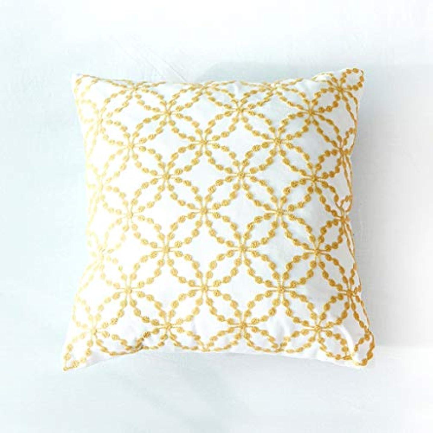 活気づく経験的敬意を表してDYHOZZ スクエアクッション、綿キャンバス刺繍枕45cm×45cm まくら (色 : C)