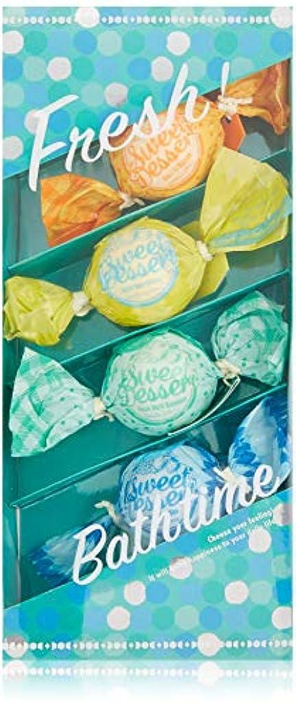 いわゆる思い出させる段落アマイワナ バスキャンディー4粒ギフトセット フレッシュ (発泡入浴料 バスギフト)