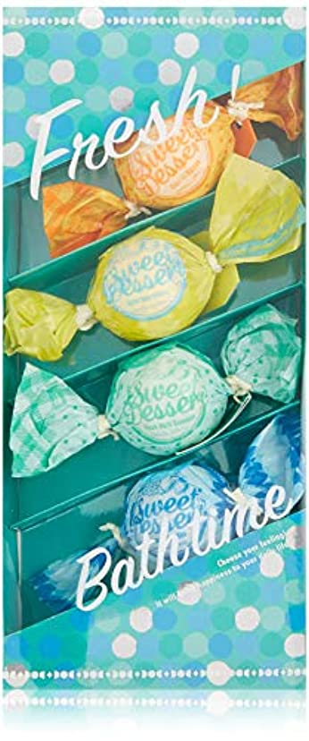 グリース覚えている推測するアマイワナ バスキャンディー4粒ギフトセット フレッシュ (発泡入浴料 バスギフト)