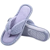 Caramella Bubble Womens Flip Flop Memory Foam Cozy Terry Lining Slippers Open Toe Spa Thong Slide