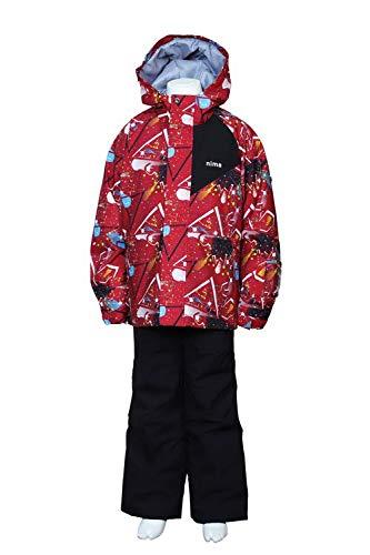 ニーマ スキーウェア 上下セット ジュニア ST JR-7001 75Pレッド 160