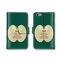 【ノーブランド品】 Xperia A SO-04E スマホケース 手帳型 リンゴ ROCK アップル apple グリーン 緑 かわいい おしゃれ 携帯カバー SO-04E ケース エクスぺリア
