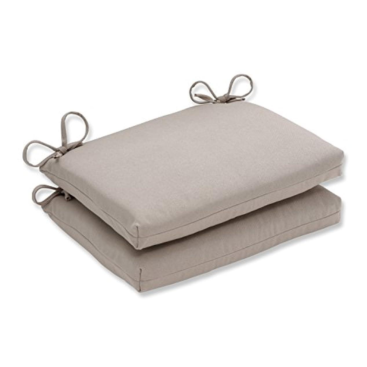 ピッチャープロテスタントジョージハンブリー(Beige) - Pillow Perfect Indoor/Outdoor Beige Solid Seat Cushion, Squared, 2-Pack