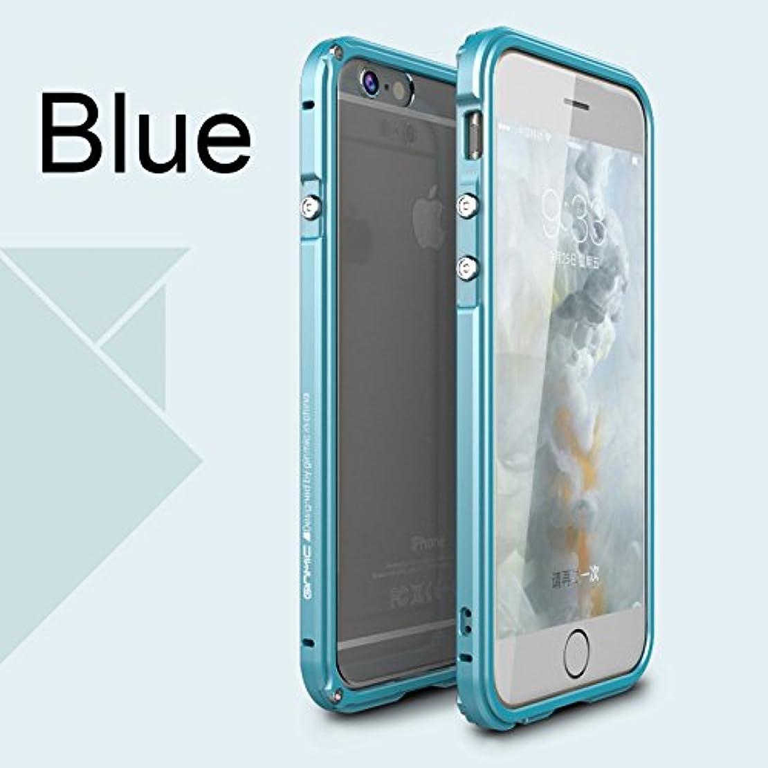 計画的強化無駄なJicorzo - 航空アルミバンパーは、iPhoneのための6 6S 6プラス6SプラスPC透明戻るケース保護用の金属製フレームカバー