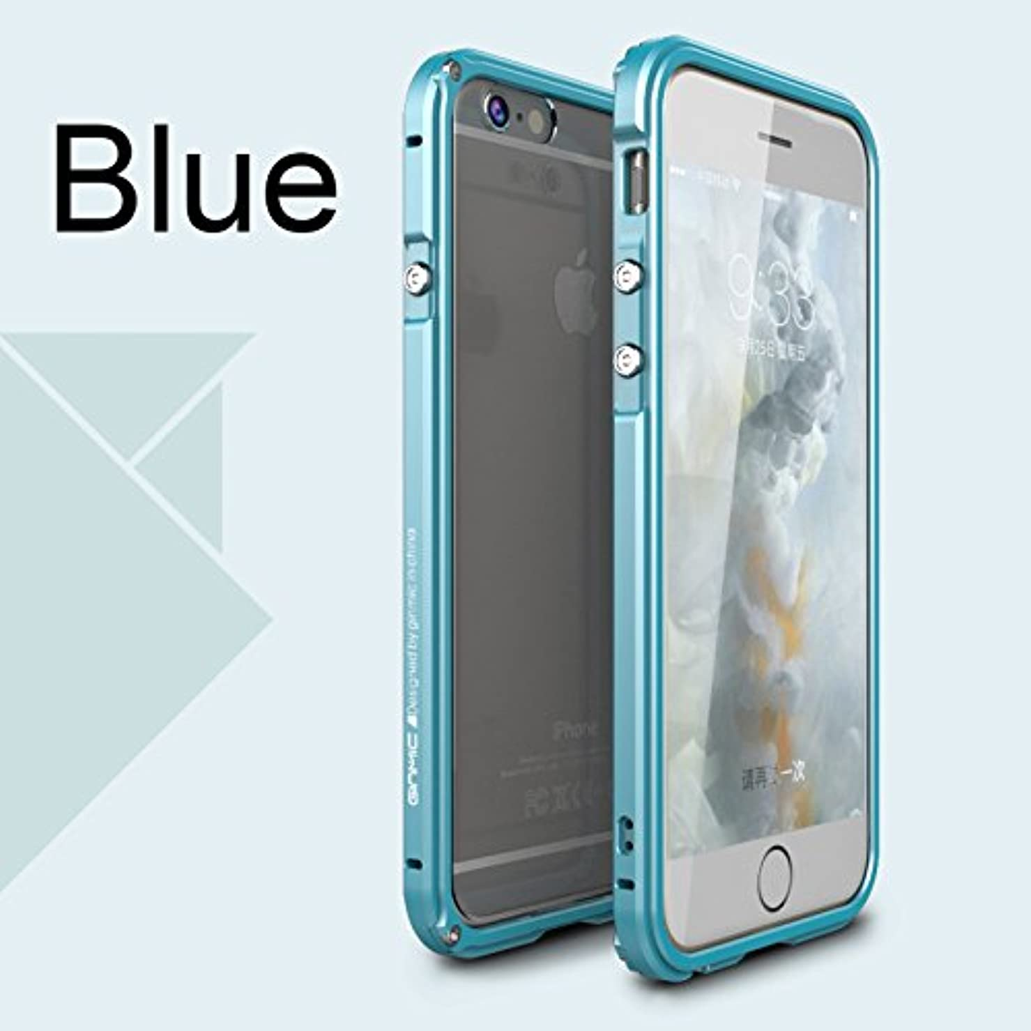 ホールドオール医薬行き当たりばったりJicorzo - 航空アルミバンパーは、iPhoneのための6 6S 6プラス6SプラスPC透明戻るケース保護用の金属製フレームカバー