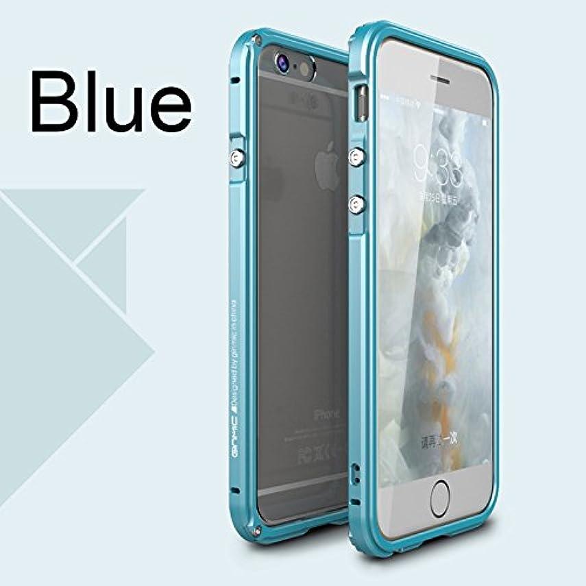 件名冒険者アレルギーJicorzo - 航空アルミバンパーは、iPhoneのための6 6S 6プラス6SプラスPC透明戻るケース保護用の金属製フレームカバー