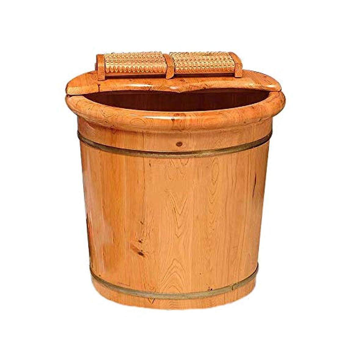 悪の肝透過性足浴桶 木製足湯器 ナチュラル フットバス ダークブラウン 足の浴槽、木製の足の盆地足のバレルの足の足のマッサージの足の盆カバーの足の桶