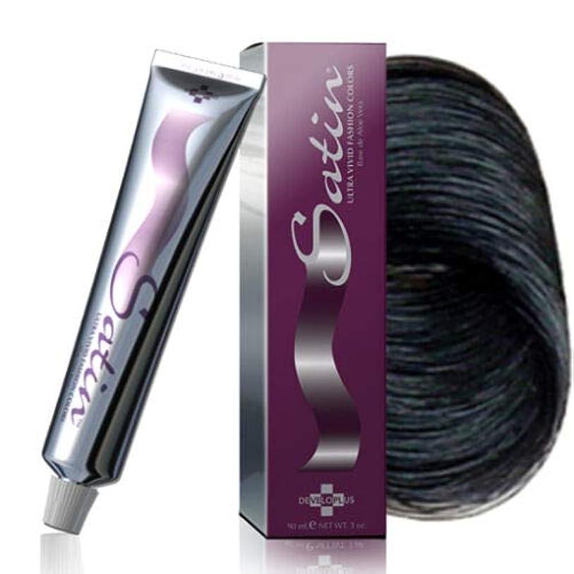 マート振る太陽Satin Hair Color by Developlus サテンヘアカラー - 超鮮やかなファッション色 - 1N - ブラック