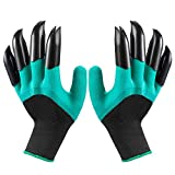 Garden Genie Gloves with Fingertips Claws on Right Hand & Left Hand for Digging Planting,Waterproof Gardening Tools for Men a