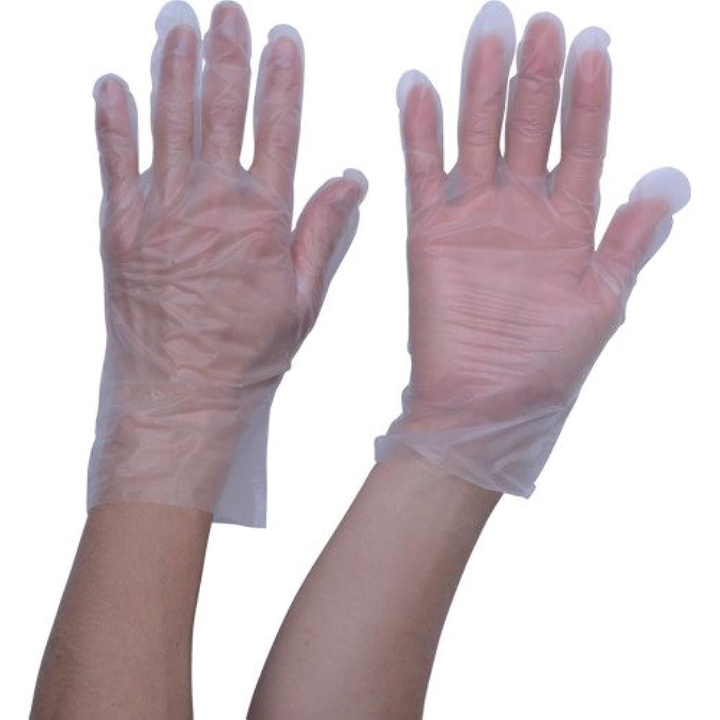 TRUSCO ポリエチレン 使い捨て手袋 ウェーブカットタイプL (100枚入)(入数:100枚) TGCPE025L