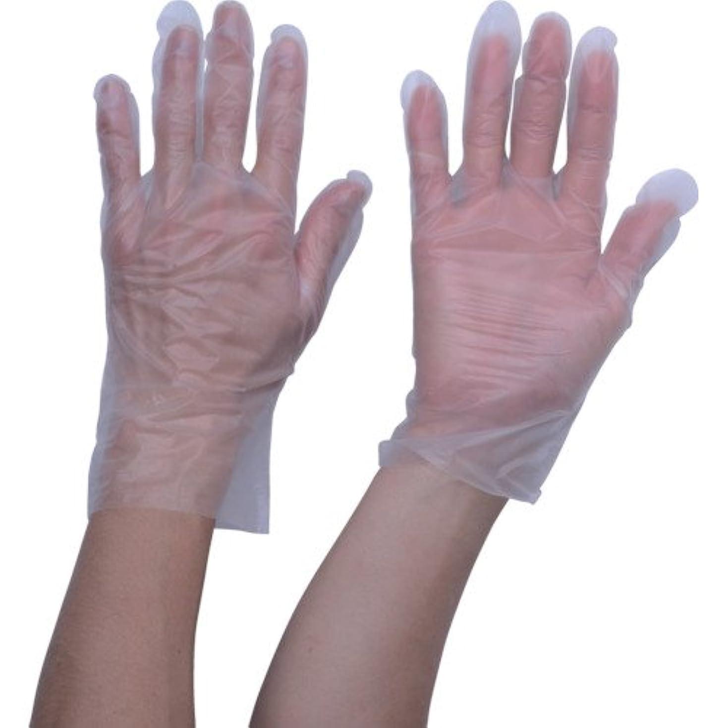 等々開発全能TRUSCO ポリエチレン 使い捨て手袋 ウェーブカットタイプL (100枚入)(入数:100枚) TGCPE025L