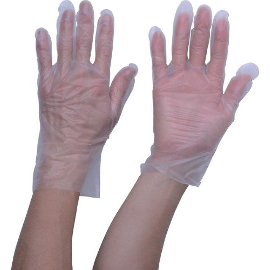 つづり拮抗逸脱TRUSCO ポリエチレン 使い捨て手袋 ウェーブカットタイプS (100枚入)(入数:100枚) TGCPE025S