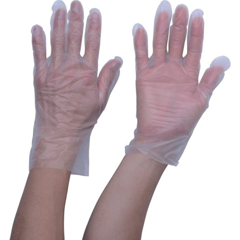 種所有者地中海TRUSCO ポリエチレン 使い捨て手袋 ウェーブカットタイプL (100枚入)(入数:100枚) TGCPE025L