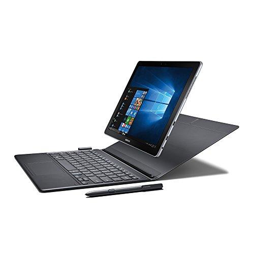 """Samsung Galaxy Book 12"""" Windows 2-in-1 PC (Wi-Fi) Silver, 4GB RAM/128GB SSD, SM-W720NZKBXAR (256GB)"""