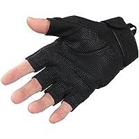 TYoung Military half-finger指なしタクティカルグローブSpecial Ops 1 / 2指ライトAssault Glove for Fitness ExerciseアウトドアスポーツCS狩猟乗馬サイクリングブラック