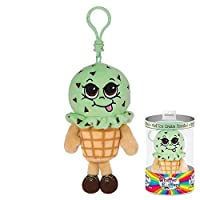 Whiffer Sniffers May B. Minty Mint Ice Cream Scented Plush Backpack Clip [並行輸入品]