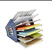 Officeはファイルホルダー用品、クリエイティブ木製デスクトップマルチレイヤラックデータストレージは、Office事務処理ファイルホルダーラック
