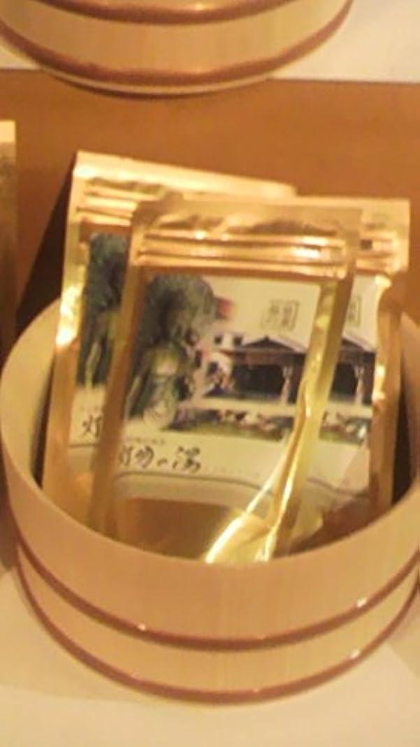 アウター事業内容トランジスタ灯明の湯温泉入浴剤(1kg入り+25g入り小袋付)