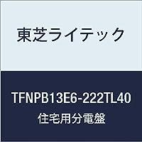 東芝ライテック 小形住宅用分電盤 Nシリーズ TL40(エコキュート 40A + 蓄電) + IH オール電化 60A 22-2 扉なし 機能付 TFNPB13E6-222TL40