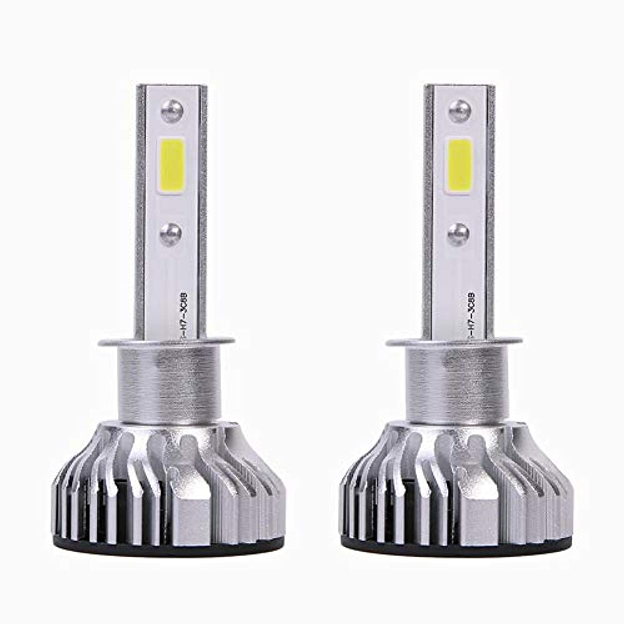 背の高いコンサート衰えるヘッドライトLED COB H1 12V/24V高輝度 取付簡単 ヘッドライトアクセサリー 自動車用 Chaufly