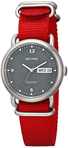 [ジャックスペード] JACK SPADE 腕時計 Conway (コンウェイ) &スポーティ ナイロンベルト グレー×レッド WURU0030 [並行輸入品]
