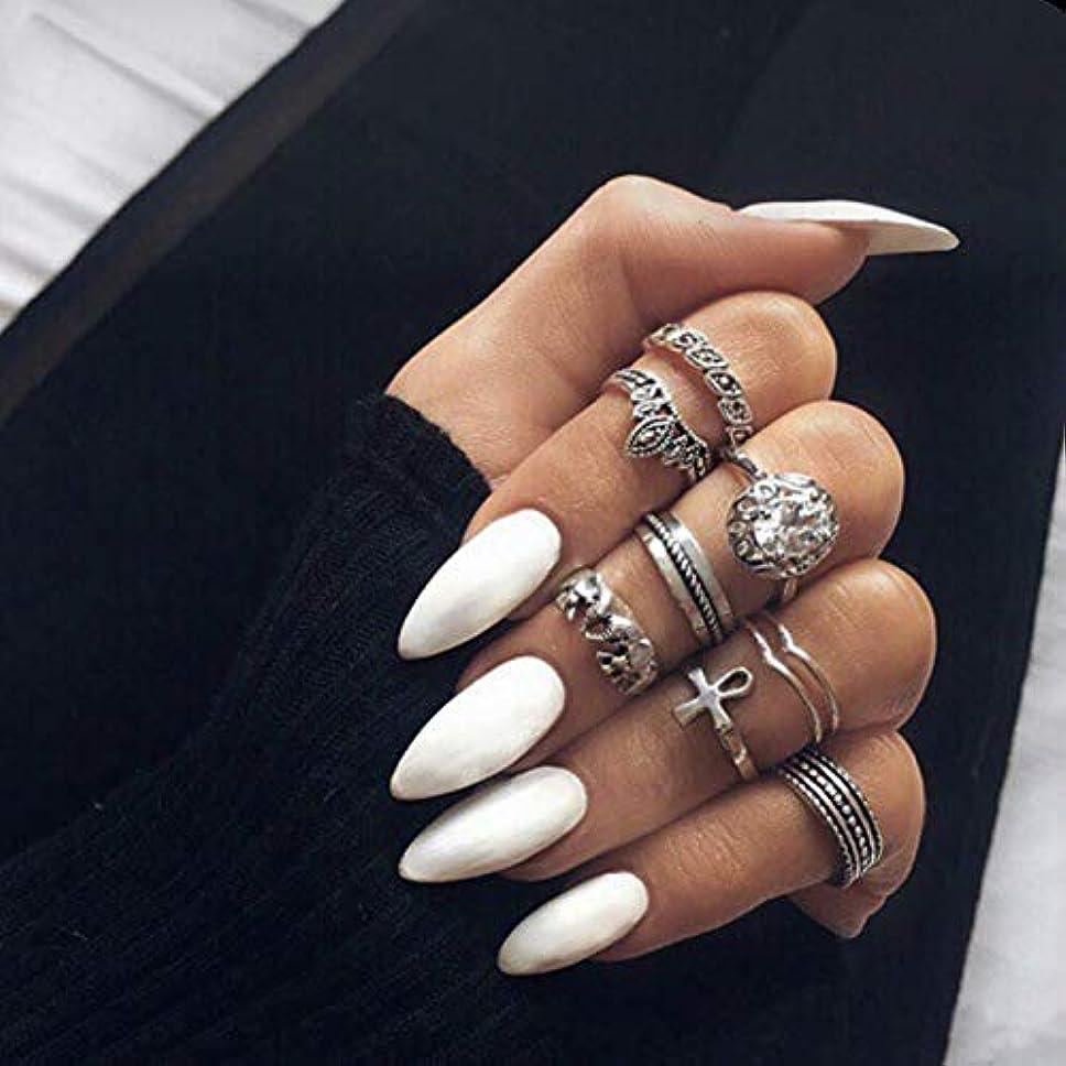分注するネクタイ小石ヨーロッパとアメリカで人気の爪 先のとがったネイルチップ 無地ネイルチップ 24pcs insで流行る付け爪 (ワイト)