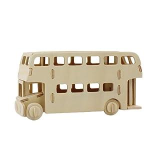 飾る木製3Dパズルキット 2階建てバス JP238