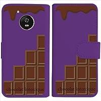 sslink IDOL4 Alcatel 手帳型 パープル ケース ミルクチョコレート スイーツ ダイアリータイプ 横開き カード収納 フリップ カバー