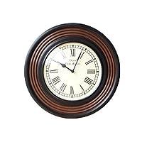 壁掛け時計 掛け時計 おしゃれ 木製 クラシック ウォールクロック ウッディーライン [ebn6634]