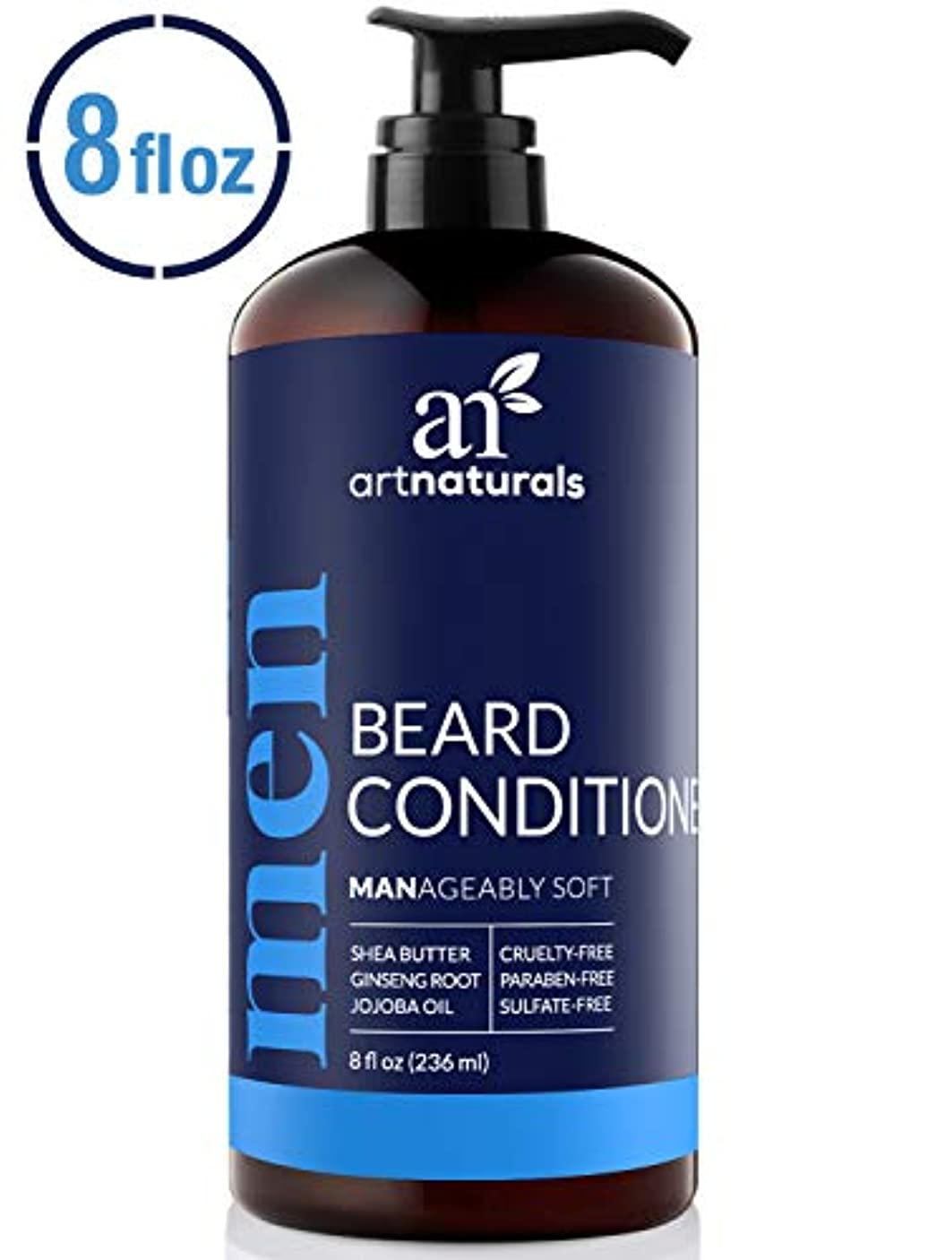 左発表する聡明ArtNaturals Natural Beard Deep Conditioner - (8 Fl Oz/236ml) - Infused with Aloe Vera, Tea Tree and Jojoba Oil...