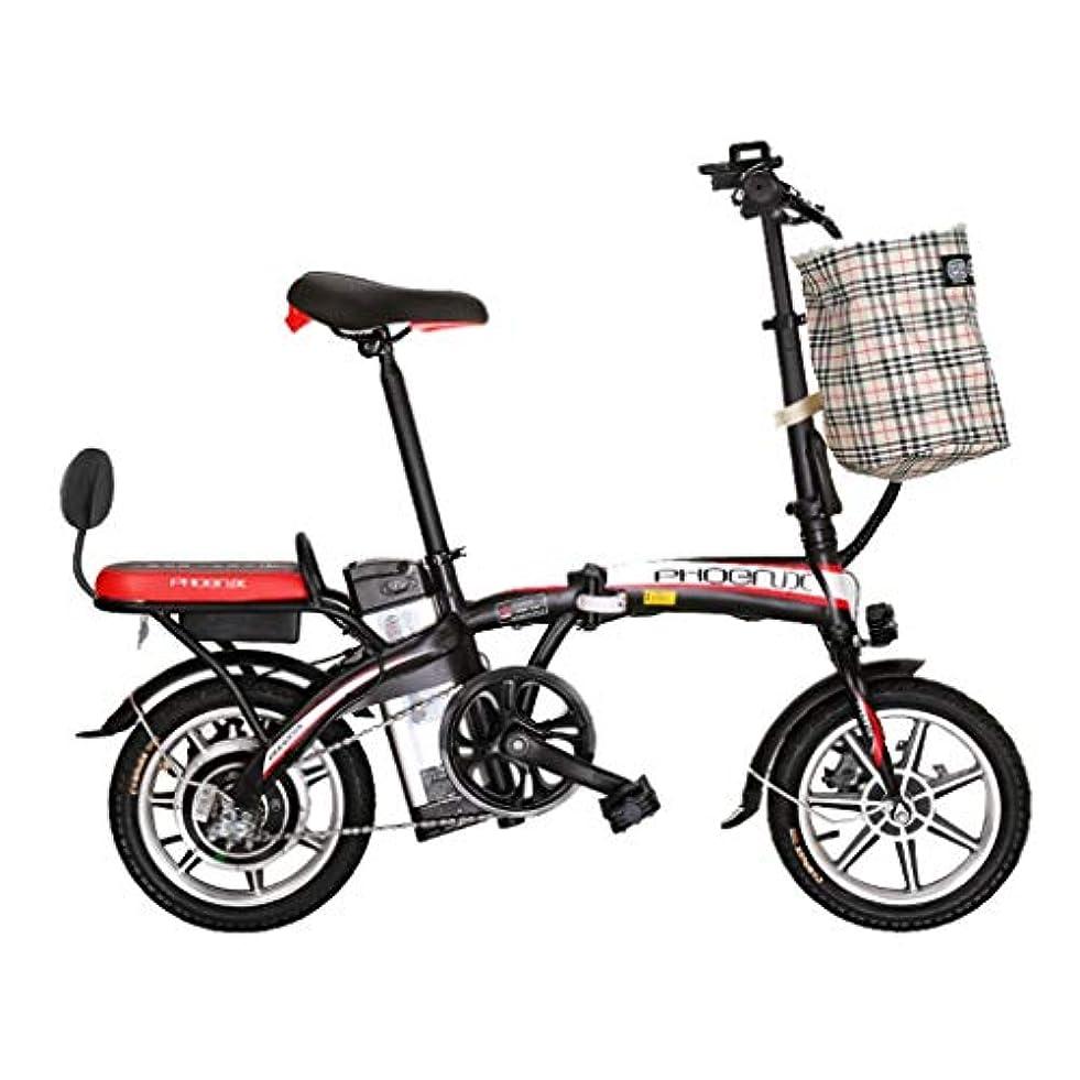 チラチラする衣類宝電気自転車の大人の自転車電池車の小さい電気自動車、力寿命75kmを折る電気自転車のリチウム電池 (Color : RED, Size : 123*30*93CM)