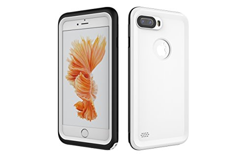 Iphone 7 Plus 防水電話ケースは、HBER IP68完全密閉水泳ダイビング水中防塵耐雪性の耐震ヘビーデューティケースカバーは、iphone7 plusのために敏感な画面タッチ指紋認証ロック解除をサポートしています (白)