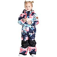 GSOU SNOW Ski Boys Jumpsuits Printed One Piece Girls Snowsuits Winter Suits Skiing Overalls