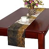GGSXD テーブルランナー すばしこい ゴールデンレトリーバー クロス 食卓カバー 麻綿製 欧米 おしゃれ 16 Inch X 72 Inch (40cm X 182cm) キッチン ダイニング ホーム デコレーション モダン リビング 洗える