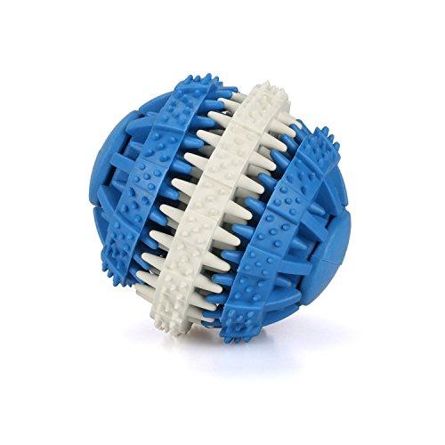 MixMart 犬用 噛むおもちゃ 歯磨き玩具 噛むおもちゃ ラバー製 餌入れ おやつおもちゃ 猫用 噛む玩具 知育玩具 藍(6cm)