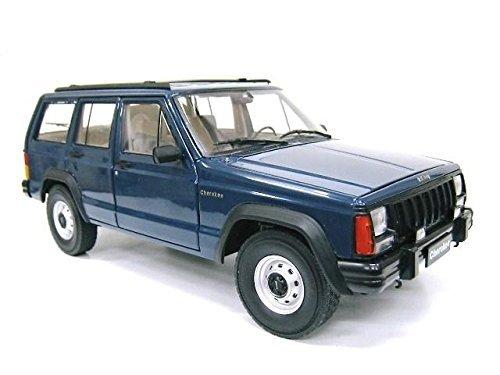 クライスラー特注 1/18 ジープ チェロキー (ネイビー) Jeep