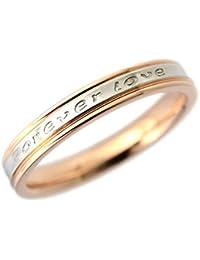 指輪 ステンレス リング 永遠の愛 Forever love ピンクゴールド 19号