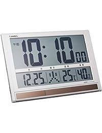 ランデックス(Landex) 掛け時計 電波 デジタル タイムゲート ソーラー 置き掛け兼用 ホワイトYW9088WH