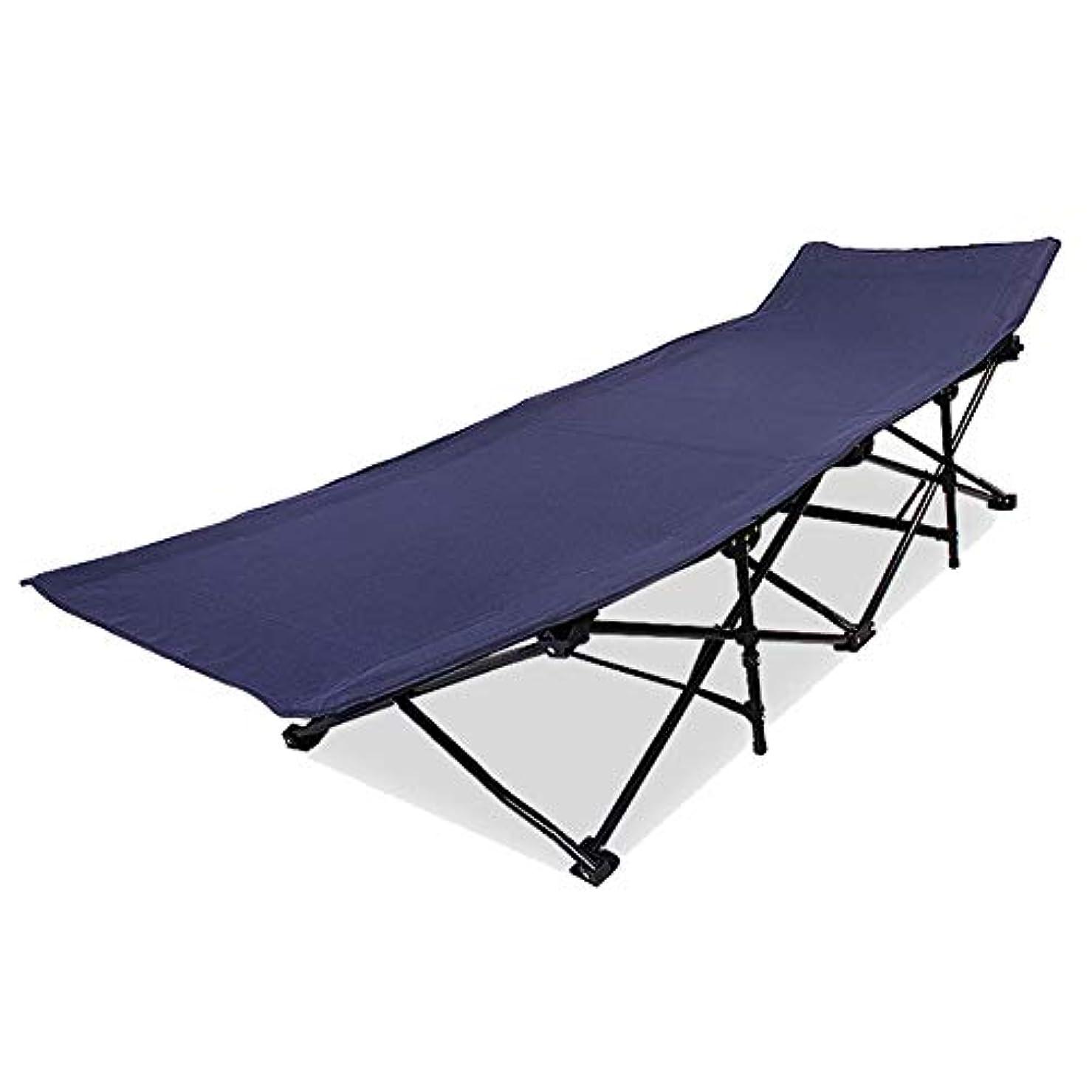 また明日ねリンク直面する折りたたみベッドビーチベッドランチブレークキャンプベッド単層布を増やす (Size : D)