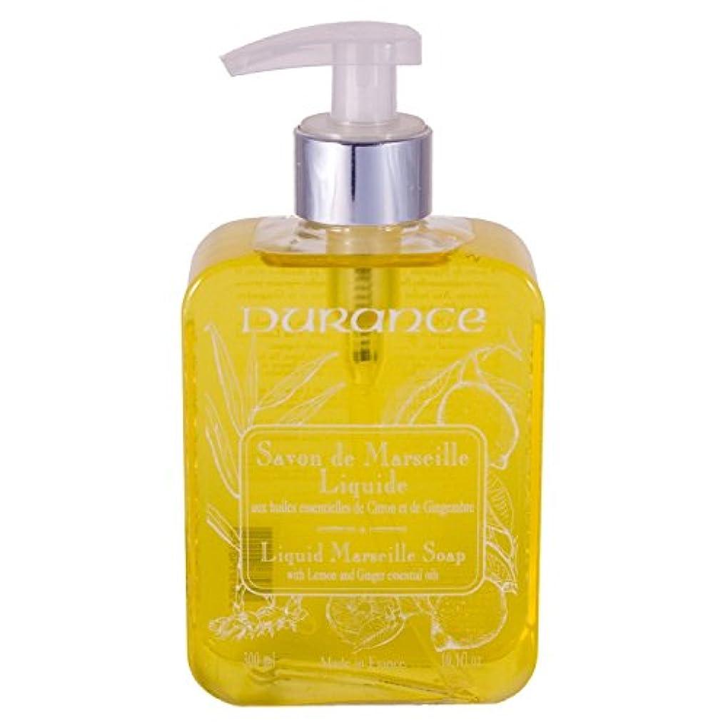 石鹸名誉ある感謝祭DURANCE(デュランス) マルセイユリキッドソープ 300ml 「レモンジンジャー」 3287571401154
