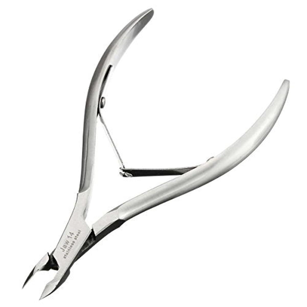 妥協嫌な狭いキューティクルニッパーD-07C LuckyFine ネールケア  ネイル道具 甘皮切り 爪切り シルバー