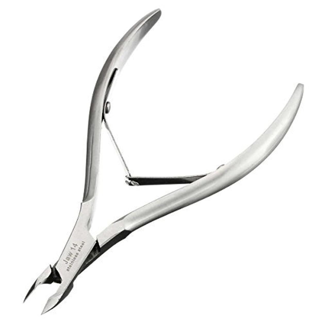 一般的な十分な世紀キューティクルニッパーD-07C LuckyFine ネールケア  ネイル道具 甘皮切り 爪切り シルバー